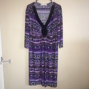AA Studio - 18/20 Plus Size Purple & Black Dress